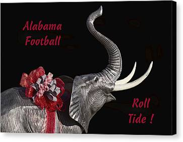 Alabama Football Roll Tide Canvas Print by Kathy Clark
