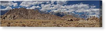 Alabama Hills And Eastern Sierra Nevada Mountains Canvas Print by Peggy Hughes