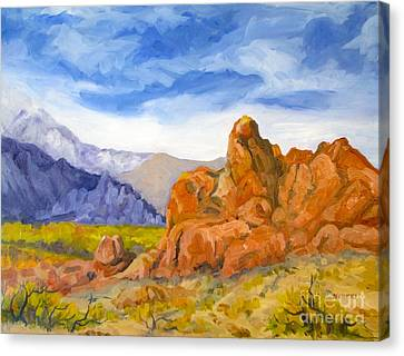 Alabama Hills Looking North Canvas Print by Pat Crowther