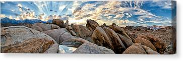 Alabama Hills Sunset Canvas Print by Cat Connor