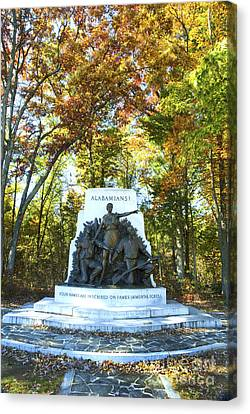 Alabama Monument At Gettysburg Canvas Print by Paul W Faust -  Impressions of Light