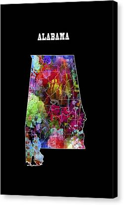 Alabama State Canvas Print by Daniel Hagerman