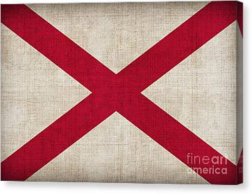 Alabama State Flag Canvas Print by Pixel Chimp