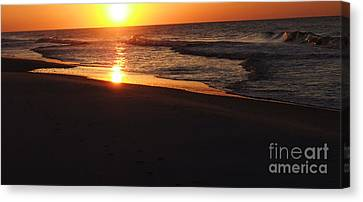 Canvas Print featuring the photograph Alabama Sunset At The Beach by Deborah DeLaBarre