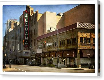 Canvas Print featuring the photograph Alabama Theatre by Davina Washington