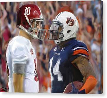 Alabama Vs Auburn Canvas Print by Mark Spears