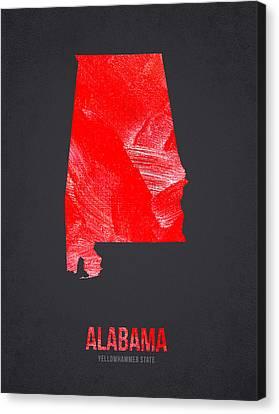 Tuscaloosa Canvas Print - Alabama Yellowhammer State by Aged Pixel