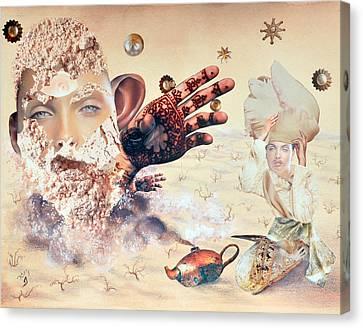 Aladdin And The Magic Lamp Canvas Print by Nekoda  Singer