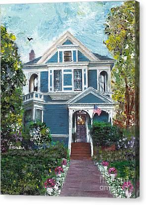 Alameda 1887 - Queen Anne Canvas Print by Linda Weinstock