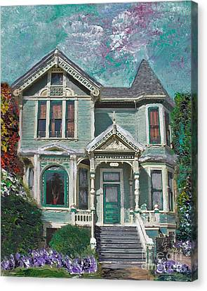 Alameda 1897 - Queen Anne Canvas Print by Linda Weinstock