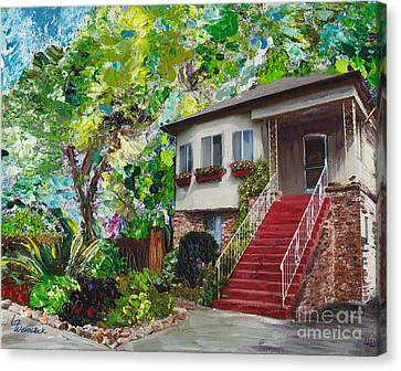 Canvas Print featuring the painting Alameda 1908 Duplex by Linda Weinstock