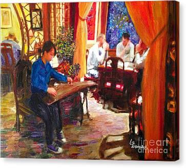 Guzheng Canvas Print by Linda Weinstock