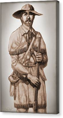 Alamo Defender Frontiersman Canvas Print by Dan Terry