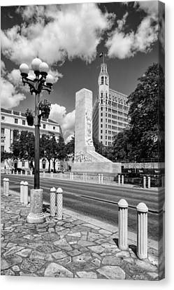 Alamo Memorial And Emily Morgan Hotel - San Antonio Texas Canvas Print by Silvio Ligutti