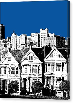 Alamo Square -  Royal Blue Canvas Print
