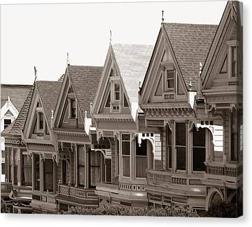 Alamo Square - Victorian Painted Ladies 2009 Canvas Print by Connie Fox