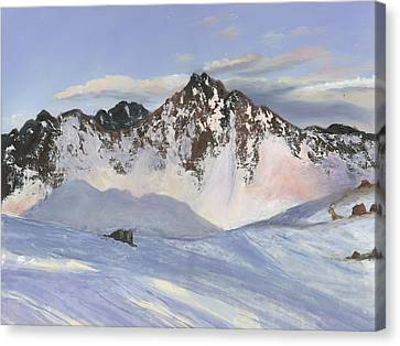 Alamoots Winter Mountains Canvas Print by Cecilia Brendel