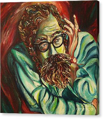 Alan Ginsberg Poet Philosopher Canvas Print by Carole Spandau