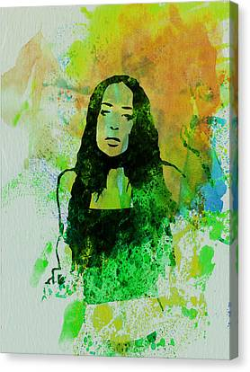 Alanis Morissette Canvas Print by Naxart Studio