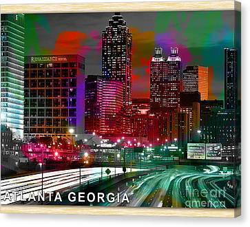 Alanta Georgia Skyline  Canvas Print by Marvin Blaine