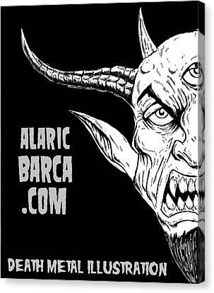 Horror Fantasy Movies Canvas Print - Alaricbarca.com by Alaric Barca