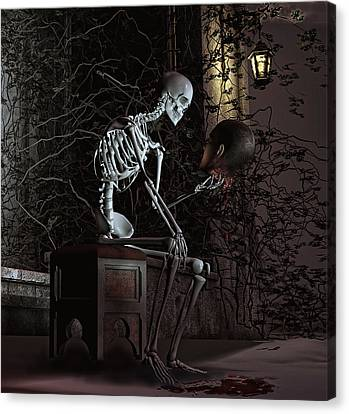 Alas Poor Yorick Canvas Print