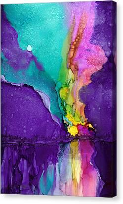 Alaska Aurora Borealis Canvas Print by Karen Mattson