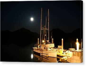 Alaska Fishing Boat Canvas Print by Michael J Bauer