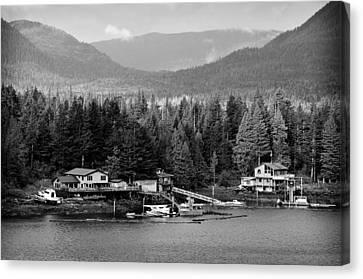 Alaska Homestead Canvas Print by Davina Washington
