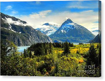 Canvas Print featuring the photograph Alaska In All Her Glory by Dyle   Warren