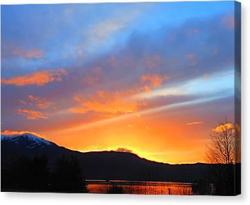 Canvas Print featuring the photograph Alaska by Karen Horn