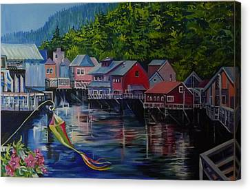Alaska. Ketchikan Canvas Print by Anna  Duyunova