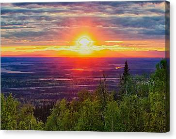 Alaska Land Of The 11 Pm Sun Canvas Print