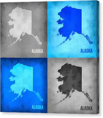 Alaska Map Art Canvas Print