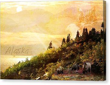 Canvas Print featuring the photograph Alaska Montage by Ann Lauwers