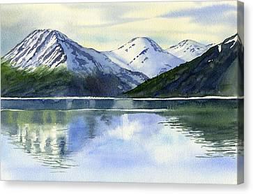 Alaska Mountain Reflections Canvas Print by Sharon Freeman