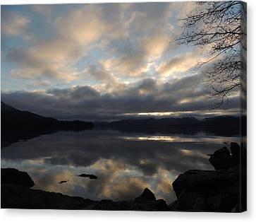 Canvas Print featuring the photograph Alaska Reflections by Karen Horn