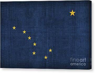 Alaska State Flag Canvas Print by Pixel Chimp