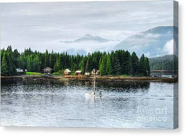 Alaska The Last Frontier Canvas Print by Mel Steinhauer