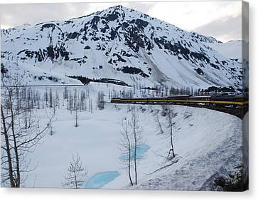 Alaska Train To Denali Canvas Print