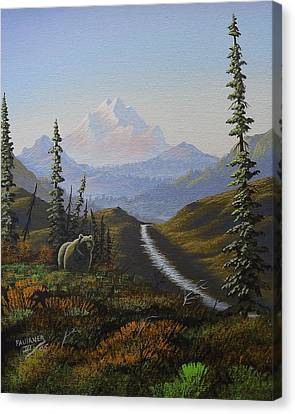 Canvas Print featuring the painting Alaskan Brown Bear by Richard Faulkner