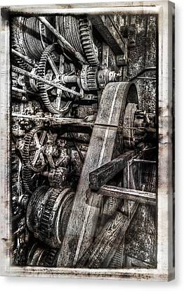 Alaskan Gold-dredge Bucket Gear Train Canvas Print by Daniel Hagerman