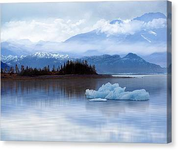 Canvas Print featuring the digital art Alaskan Mountain Side by Nina Bradica