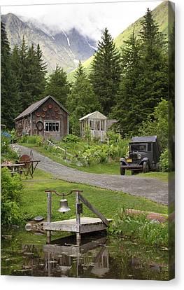 Alaskan Pioneer Mining Camp Canvas Print