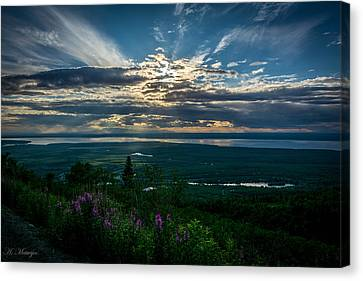 Alaskan Summer Sunset Canvas Print by Andrew Matwijec