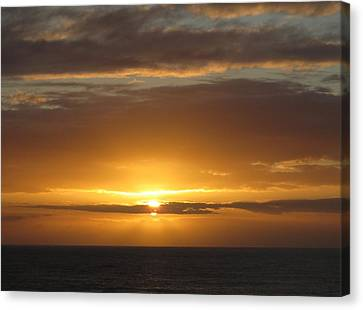 Canvas Print featuring the photograph Alaskan Sunset by Jennifer Wheatley Wolf