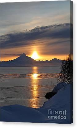 Alaskan Sunset Canvas Print by Rick  Monyahan