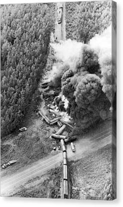 Untidy Canvas Print - Alaskan Train Wreck by Underwood Archives