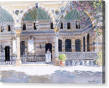 Alazem Palace Canvas Print by Lucy Willis