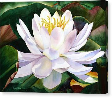 Alba Flora Canvas Print by Karen Mattson